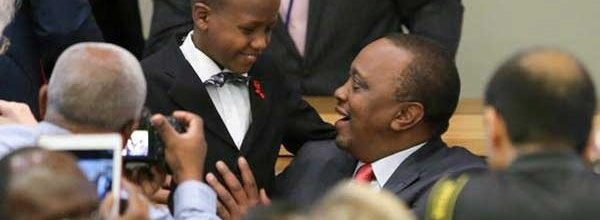 12-YEAR-OLD KENYAN BOY WITH HIV GETS STANDING OVATION AT UNGAS MEETING.
